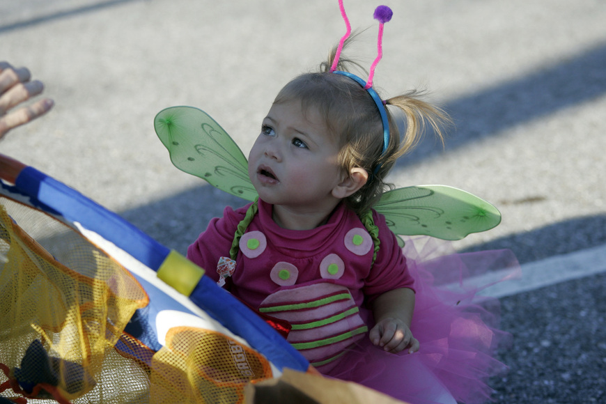 Baylee Kate Ramage, 16 months, made a beautiful butterfly.