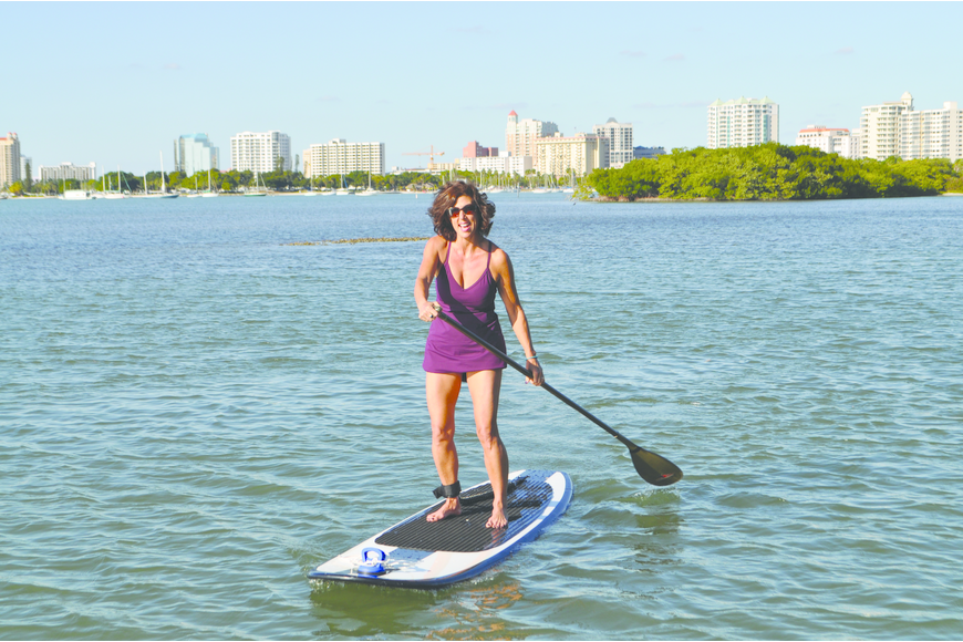 When Epstein first got her board, she went paddleboarding almost every day.