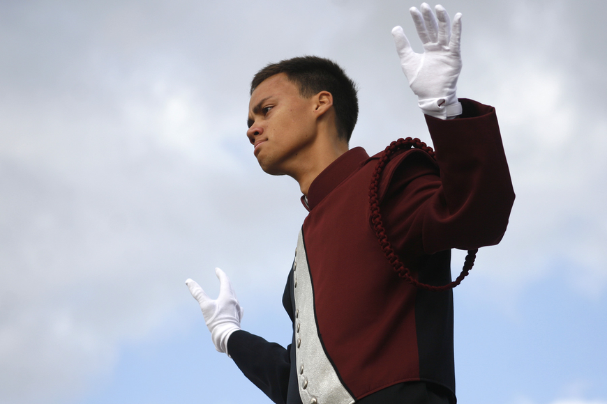 Steven Evens was this year's drum major for Braden River.
