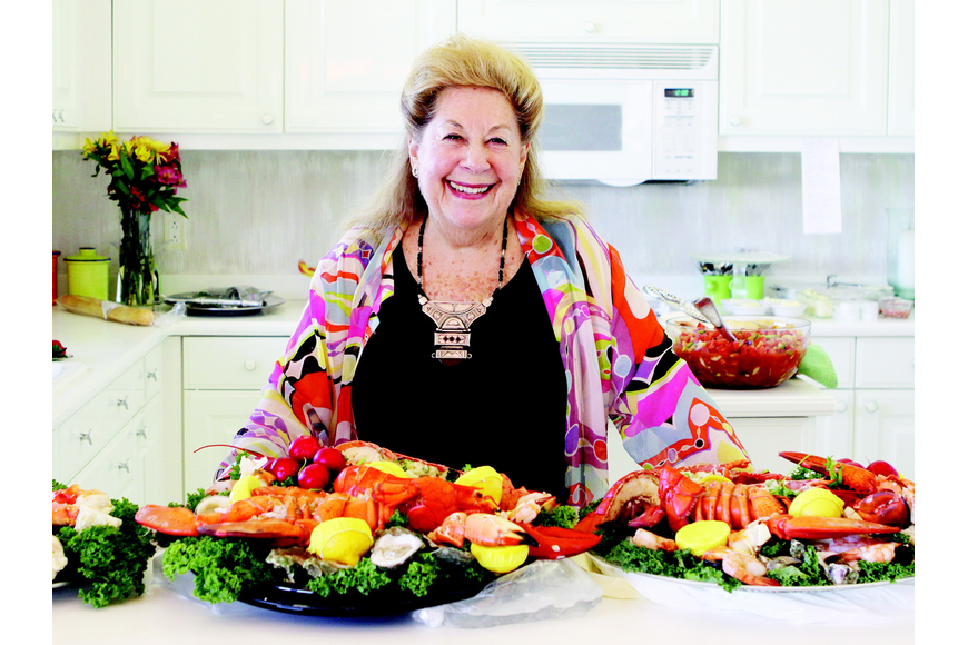 Guest food editor Lois Scheyer and her famous seafood platters