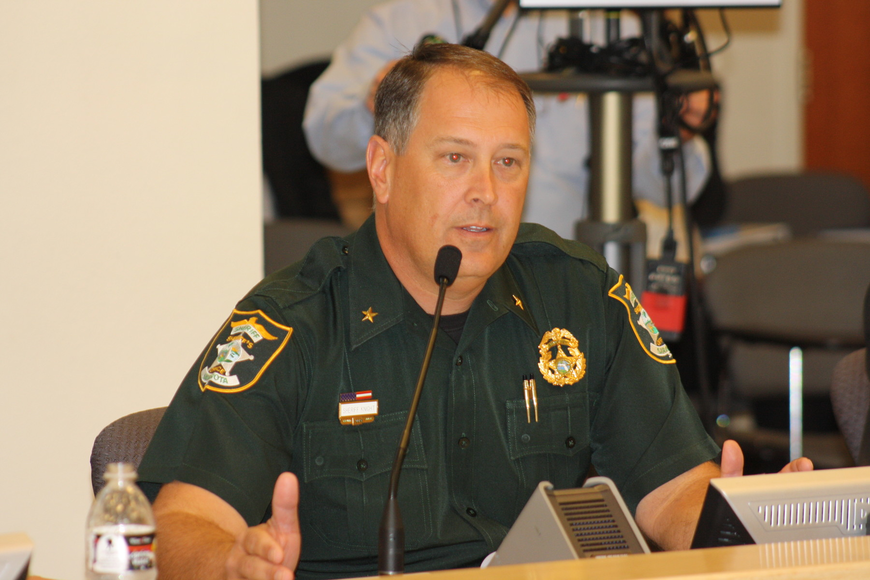 Sheriff Tom Knight attributes the reduction in crime to his deputies' efforts in capturing habitual offenders.
