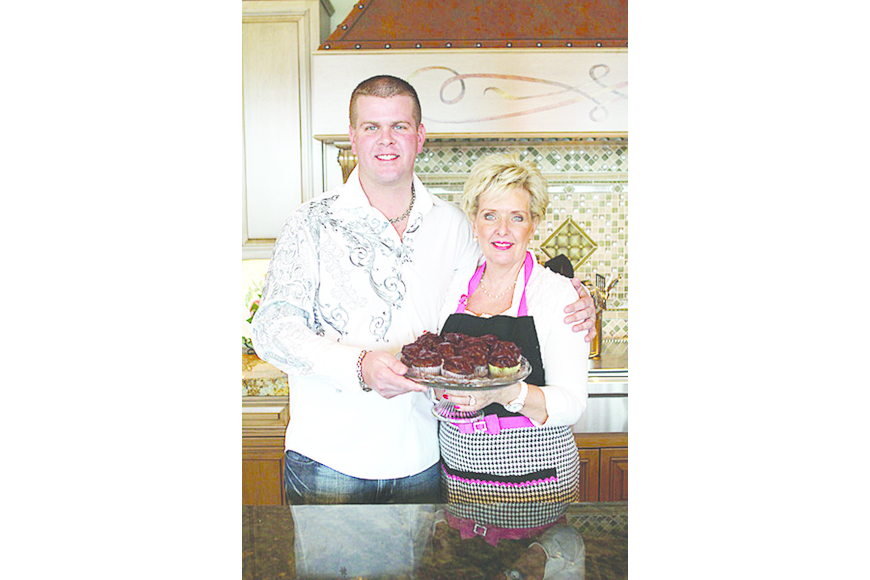 James Arnsby and his mother, Guest Food Editor Ricky Newkirk