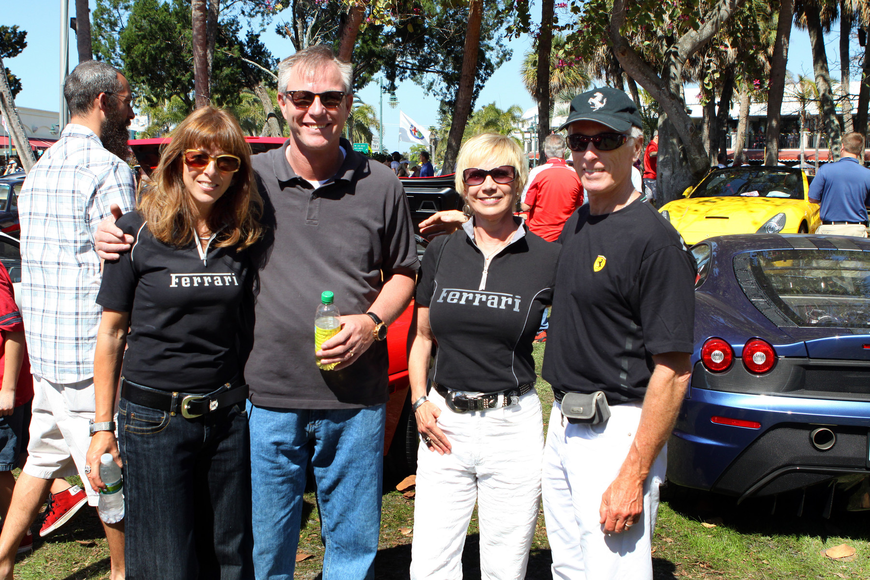 Melody and Jurgen Otto with Nancy and Steve Volk on Saturday, Feb. 19 at the Sarasota Exotic Car Fest in St. Armand's Circle
