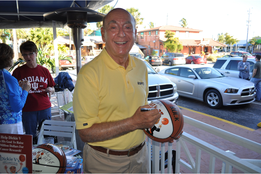 Dick Vitale has been an ESPN basketball analyst for over 30 years. The Lakewood Ranch resident eats at The Broken Egg nearly every day.