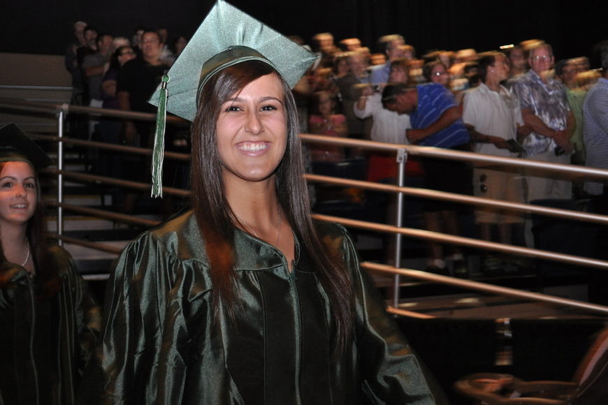 Lakewood Ranch's Kiana Broadbridge could not stop smiling as the ceremony began.