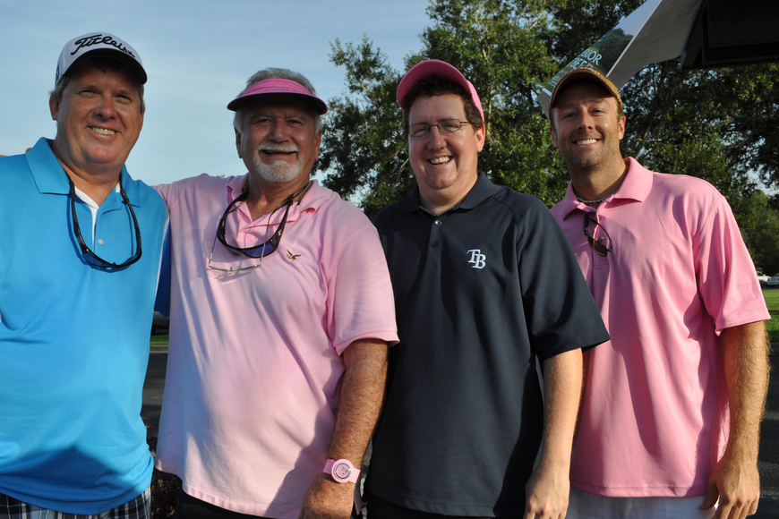 Bill Davidson, Scott Smith, Matthew Fitch and Dennis Cooley were eager to start golfing.