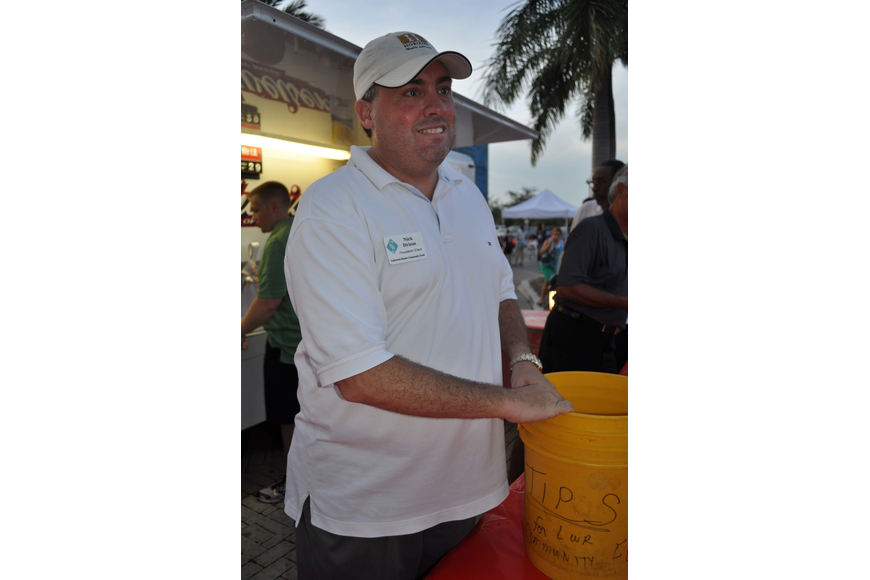 Nick Drizos collected donations for the Lakewood Ranch Community Fund.