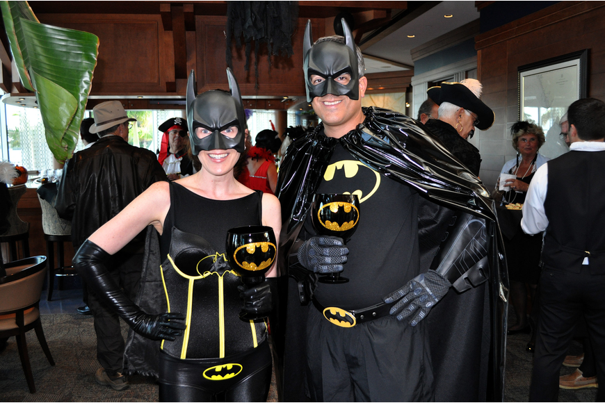 Courtney and Commodore Lee Goodman as Bat Girl and Bat Man.