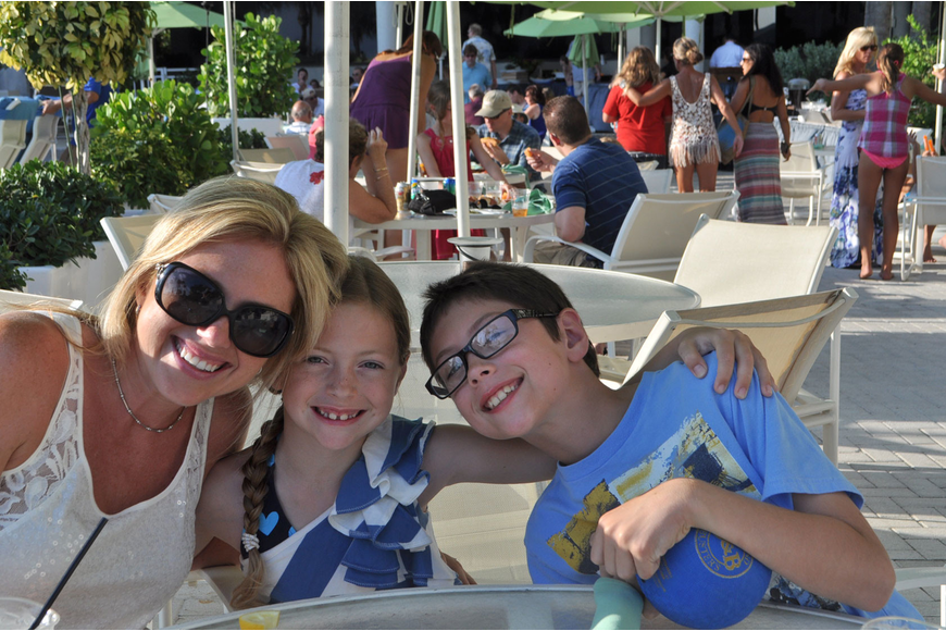 Lisa Martin and her children, Annabelle and Kamren, enjoyed a poolside barbecue May 26 at the Longboat Key Club and Resort.