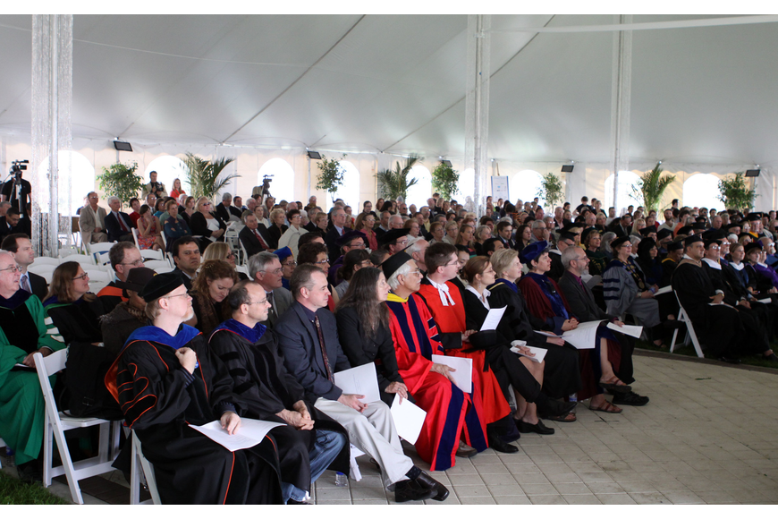 Hundreds of teachers, alumni and current students attended the inauguration of Dr. Donal O'Shea.