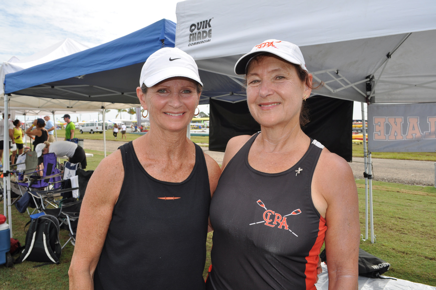 Camille Tropp and Barbara Hogan rowed with the Carnegie Lake Rowing Association in New Jersey.