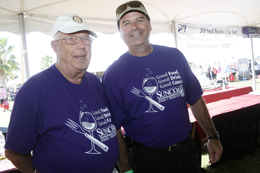Lakewood Ranch Rotarians Don Stanton and Steve Bordes worked hard at this year's festival.