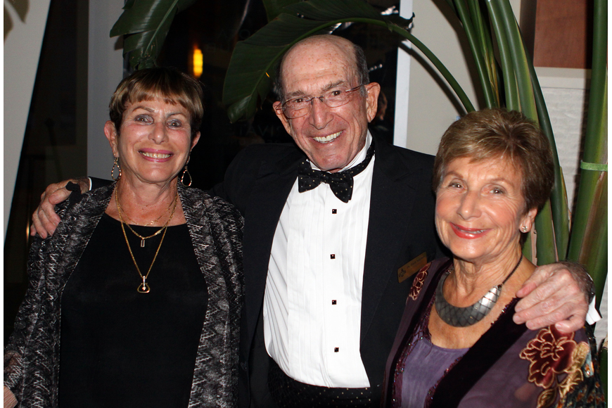 Louise and David Solomon with Marilyn Shuman