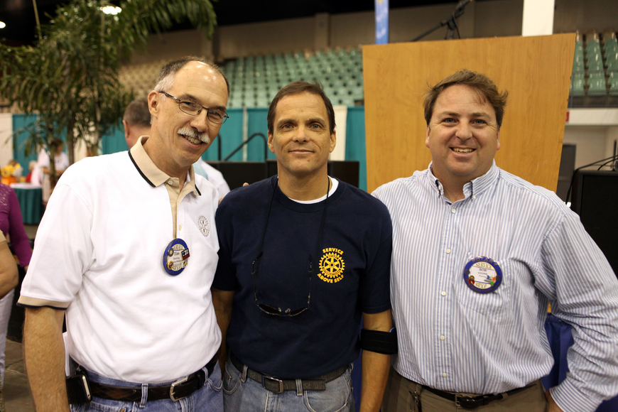 Event chairman Tim Herring, PR chair Rick Hughes and President Bob Stone