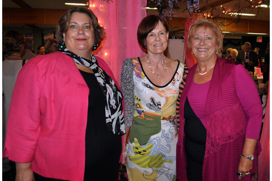 Emily Lane with co-chairs Maggie Mienhardt and Shirley Hicks