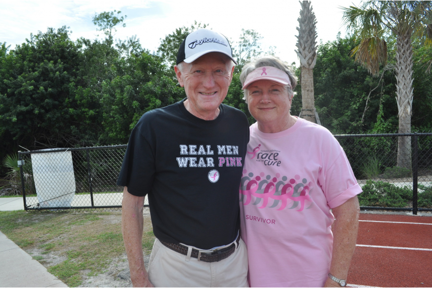 Jerry and Shirley Keenan ran the race. Shirley survived three different cancers.