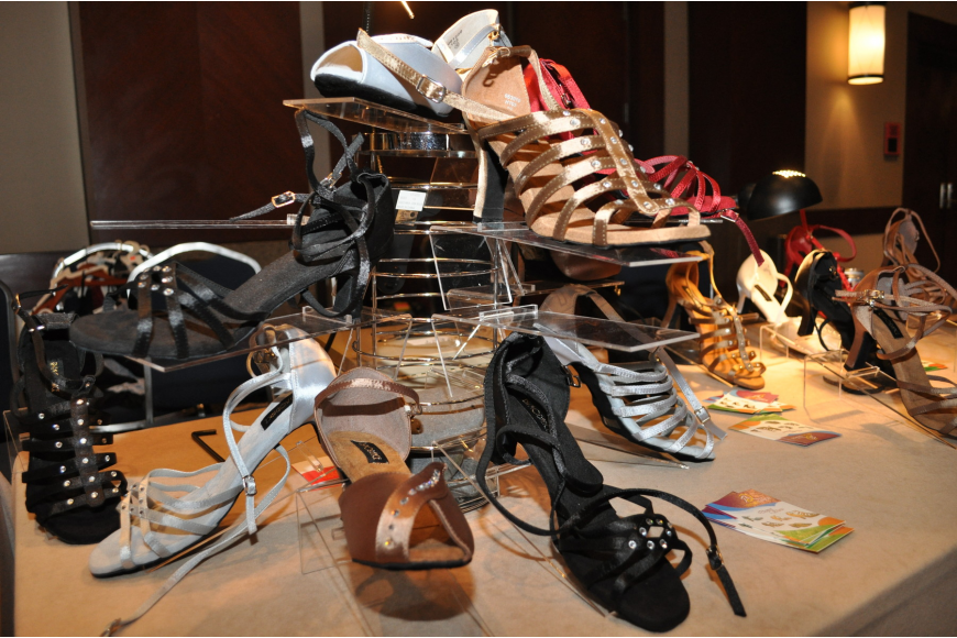 No ballroom competition is complete without a high heel display.