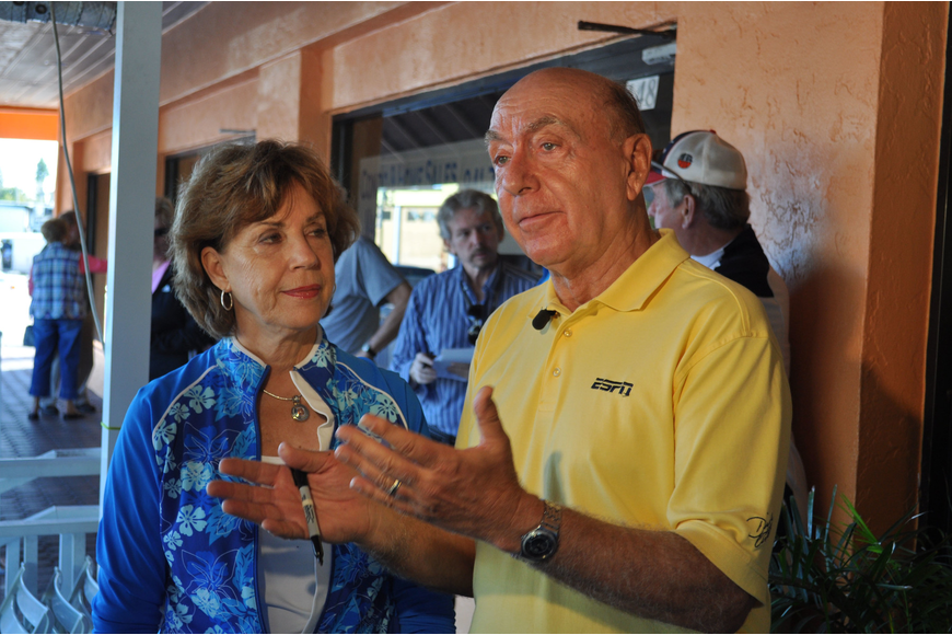 Lorraine and Dick Vitale speak about The V Foundation, which raises money for pediatric cancer research.