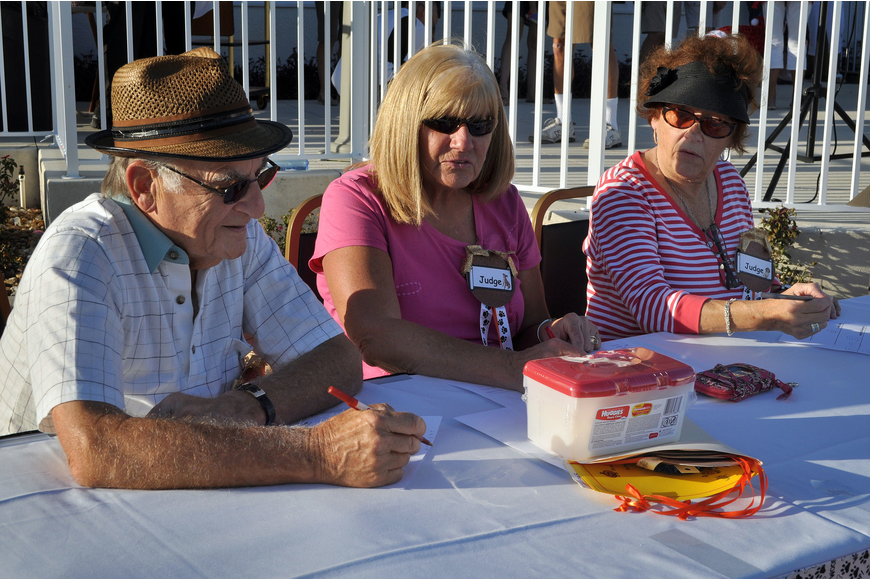 Dick Berk, Suzanne Shuster and Charlene Wray were the judges Monday, Oct. 22, for the 2nd annual Halloween Doggie Parade at Stoneybrook Golf and Country Club in Palmer Ranch.