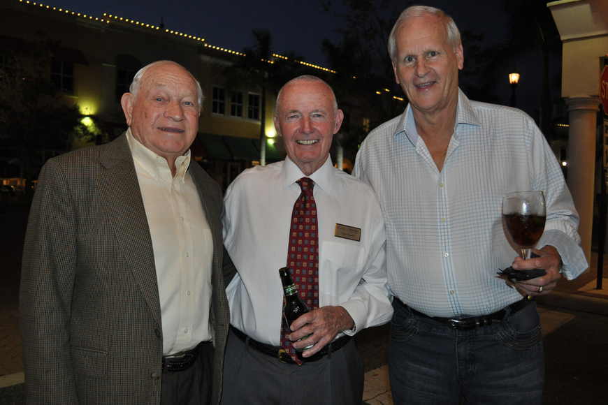 Ted Gillie with Premier Sotheby's Realtor Don Carroll and Bob Emrick