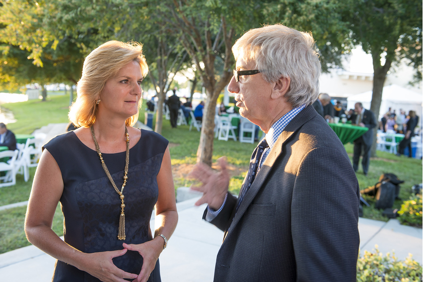 SCF President Dr. Carol F. Probstfeld with Circuit Court Judge Gilbert Smith at the SCF inauguration reception.