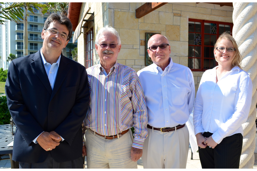 Architect Alcides Santiesteban, Mayor Jim Brown, Vice Mayor Jack Duncan and Architect Angela Kimich