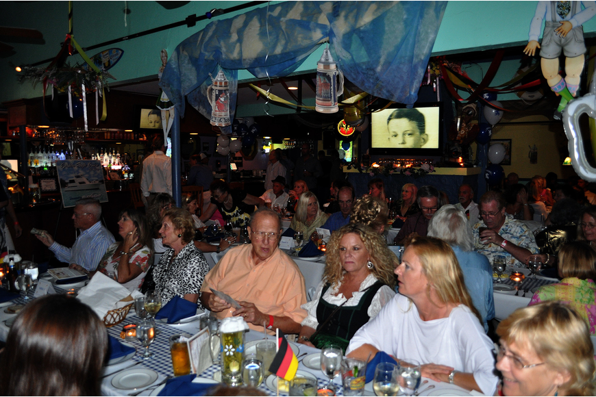 Over 100 people can out and enjoyed to a sit down, vegetarian dinner Thurday, Oct. 6 during the 11th annual Okto-Paw-Fest at the Daiqiuri Deck on SIesta Key.