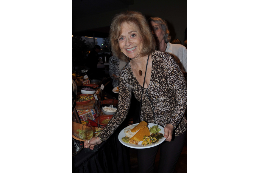 Phyllis Myers made sure to sample the many food offerings available.