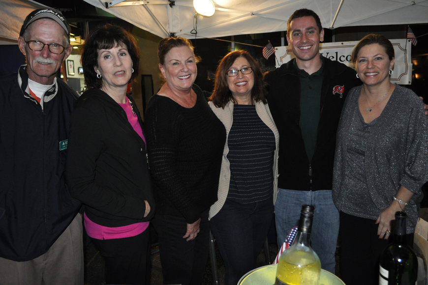Jim Brown, Cecilia Alexander, Aggie Hunt, Wanda Flaska, Alex Rolfsen and Angela Massaro-Fain shared about Junior Achievement, the night's benefiting charity.