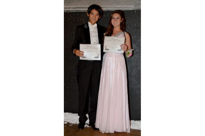 "Charles Wang and Shae Benassi won ""Most Elegantly Dressed."""