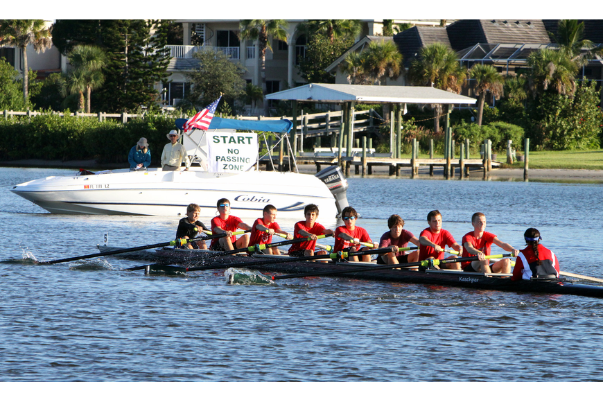 Palmetto came in third in the Mens Youth Novice 8+ division.