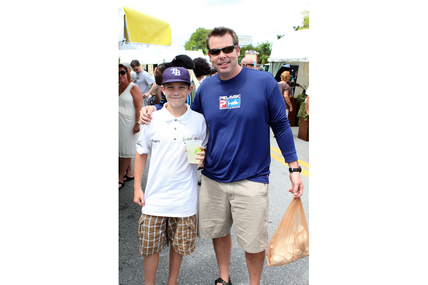 Cameron Lizotte, 12, with his uncle, Josh Lizotte.