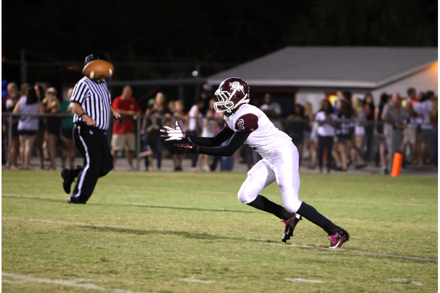 Richie James, No. 2, goes for the ball.