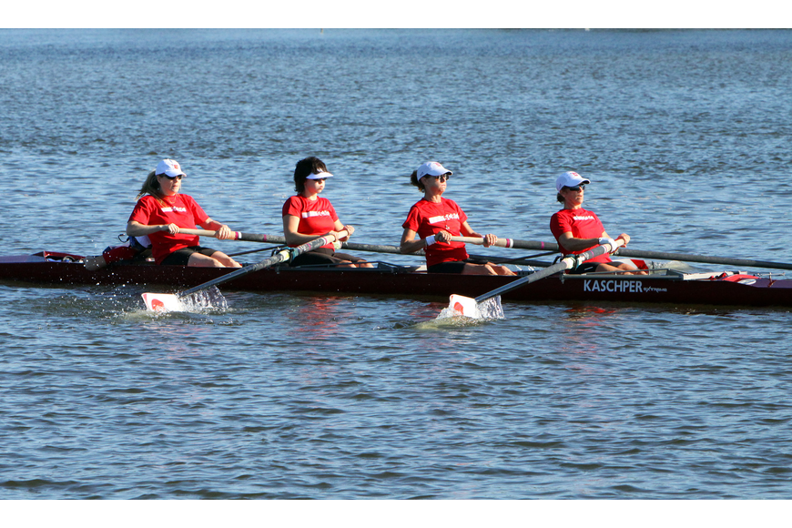 Sarasota County's Womens Masters 4X team came in second.