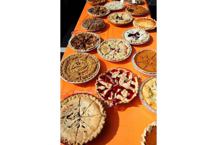 There were over 40 pies made, 21 of them were entered into the 1st annual pie contest, Friday, Dec. 9 at Everence Federal Credit Union.