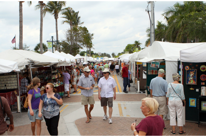 Siesta Fiesta was crowded with people and vendors, Saturday, April 14.