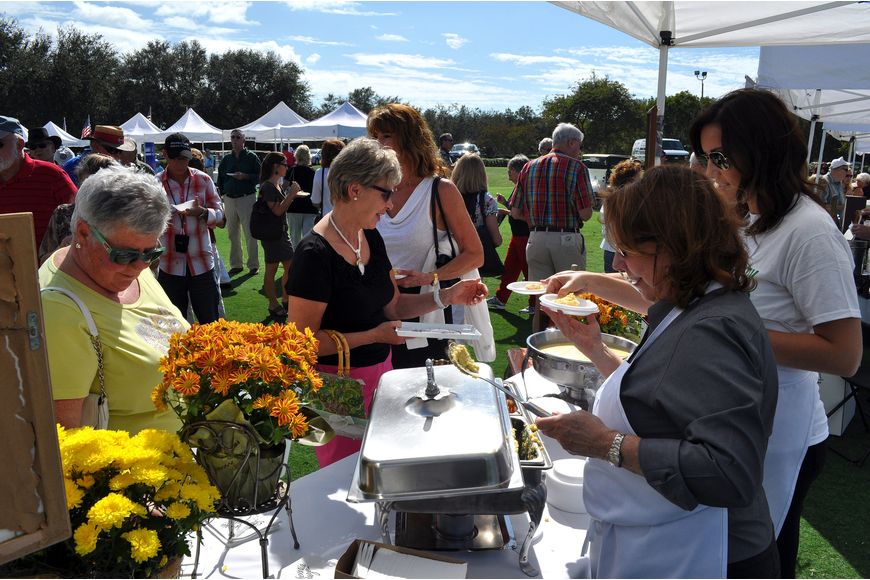 Euphemia Haye had a long line of people waiting to try the polenta being served up at their tent Saturday, Nov. 17, at the Longboat Key Gourmet Lawn Party.