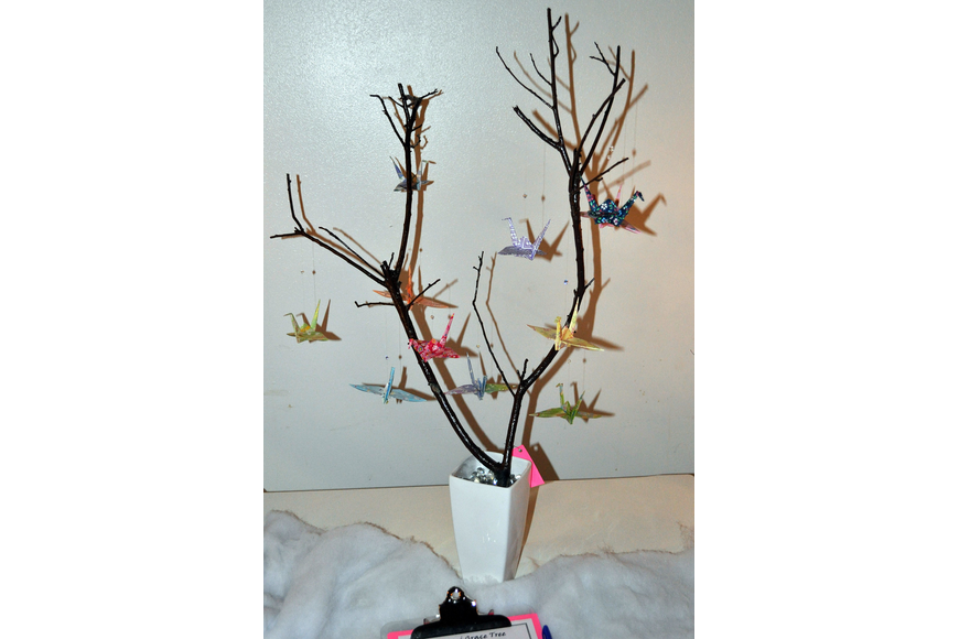 Origami Grace Tree created by Barb Feinberg