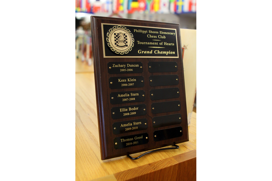 The plaque shows all the tournament winners since 2006.