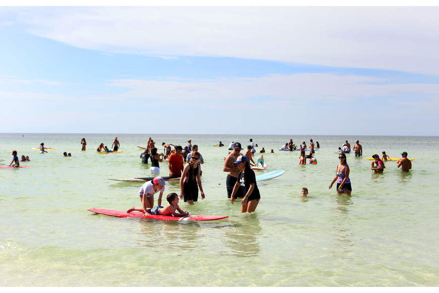 There were over 70 kids signed up and 200 volunteers that participated in Hang 10 for Autism Saturday, Sept. 15 at Siesta Key Public Beach.