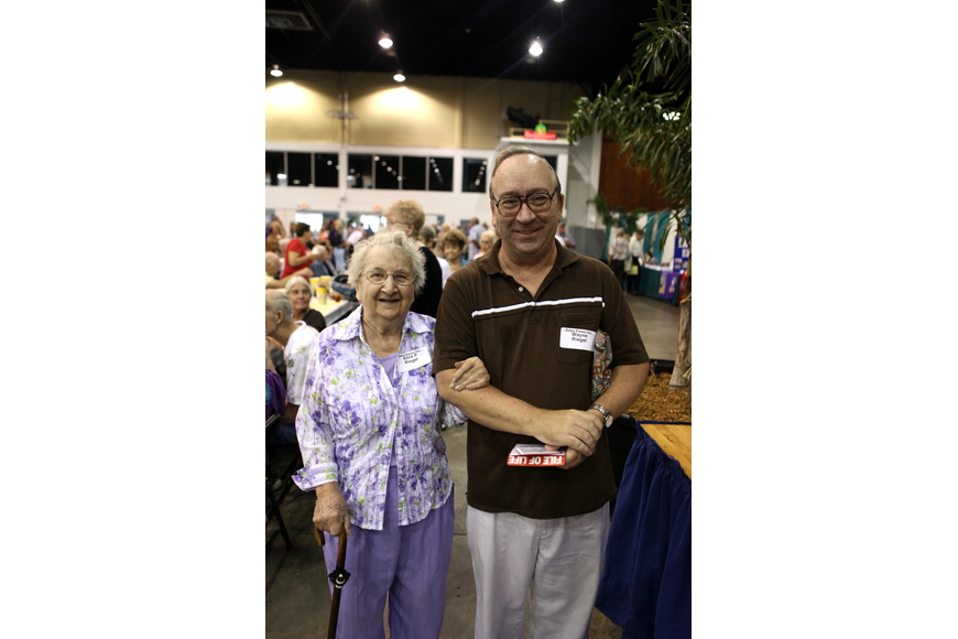 "Alice P. Riegel and her son, Wayne, attended the 38th annual ""Pioneer Day"" Picnic Sunday, Oct. 7, at Robarts Arena."