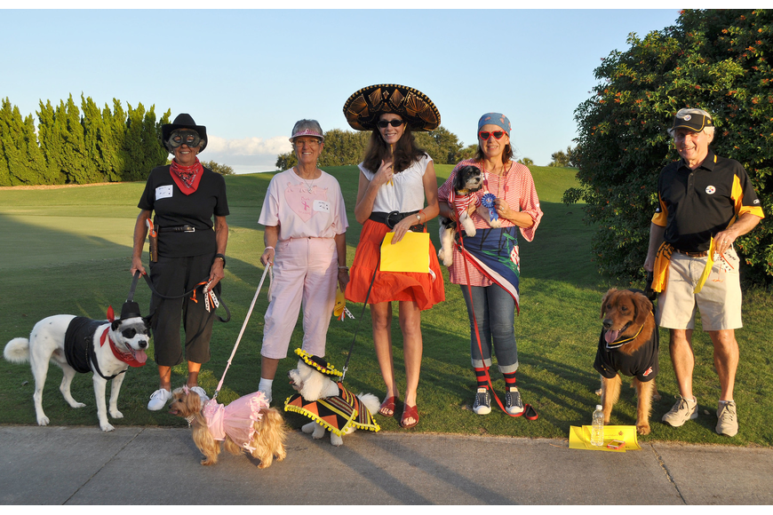 The winners of the 2nd annual Halloween Doggie Parade included Missy as Best Diva, Buddy as Best Dude, Nancy Fletcher and Bandit as Best Owner/Pet Look-alike, Diane Briganti and Sonny as Most Creative and Suzie Lee and Cooper won Best in Show.