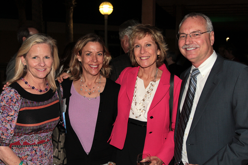 Katie Hayes; Ann Moore, SCF trustee and Realtor, Michael Saunders & Co.; SCF Venice Provost Darlene Wedler-Johnson; and Peter Hayes, president, Tandem Construction, at the SCF Foundation Inc.'s Evening Under the Stars Inauguration Concert.