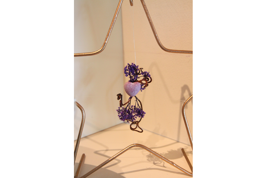 Claire Milligan's purple heart creation for