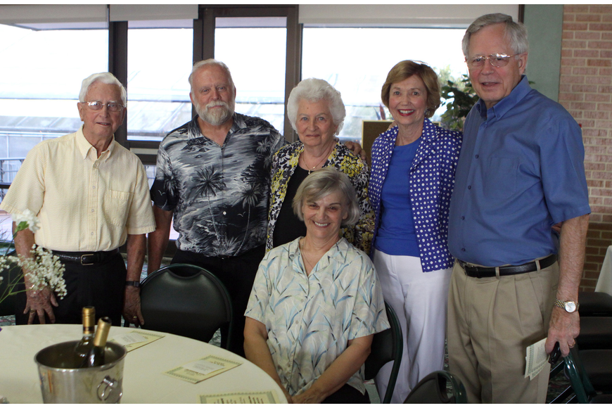 Bruce Hamilton, Rick Barry, Ethel Hamilton, Sue Barry, Sharon Meyer and Peter Meyer from St. Paul Lutheran Church had a table at Family Promises' Third Annual Just Desserts event Friday, May 20 at Selby Garden's Great Room by the Bay.