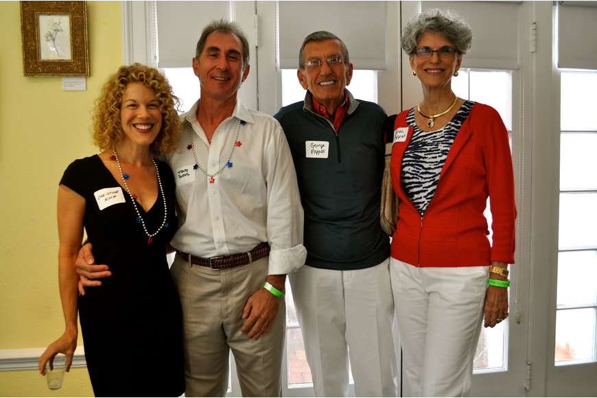 Christine Koch and Steve Boris with George and Sarah Pappas
