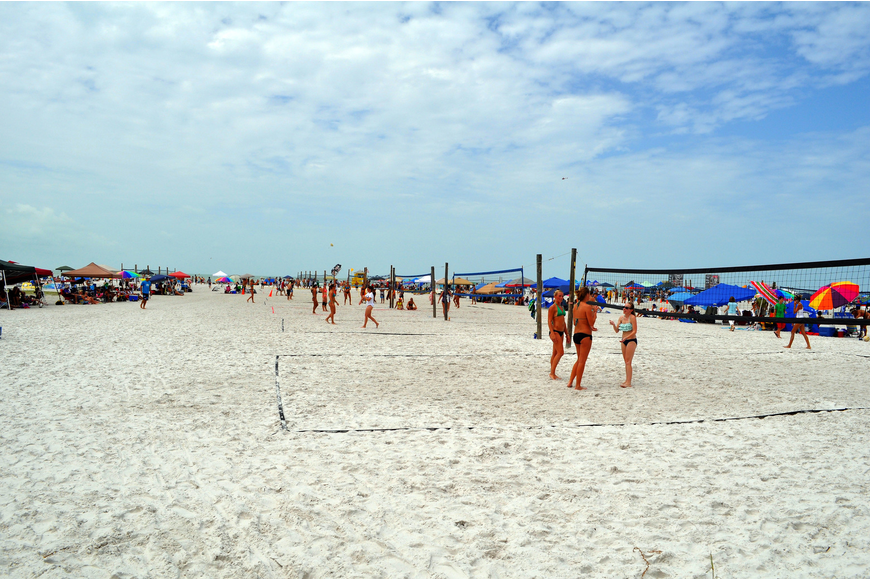 Hundreds of people came out to watch and play in the Siesta Key Gulf Open, Saturday, July 9 at Siesta Key Beach.