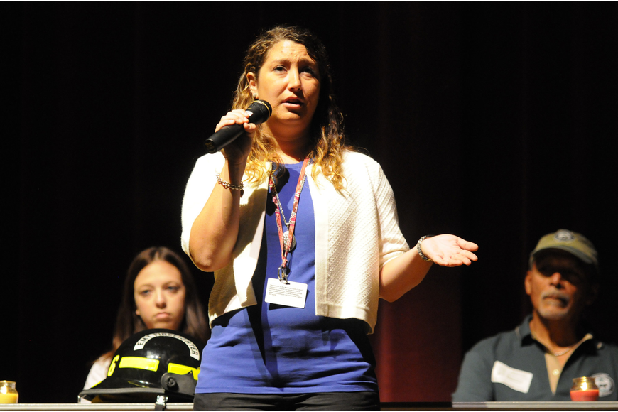 Veterinary science teacher Vanessa Giammanco shared her story of being a junior in high school in New York at the time of the attack on the World Trade Center.