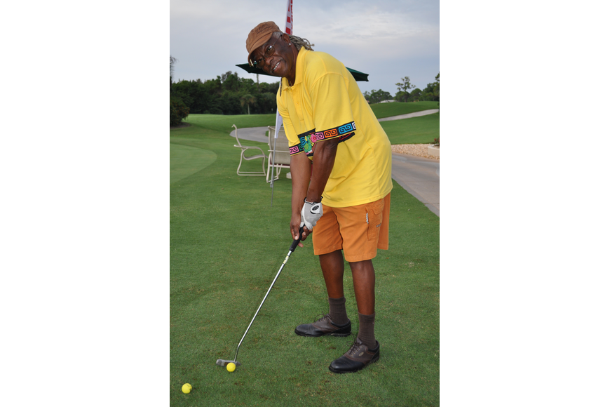 Bene White was in the running for winning the most creative golf outfit.