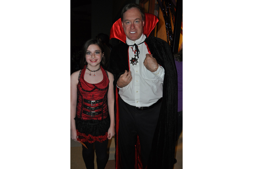 Jessica Sachar and her father, Michael, came as vampires.
